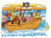 pirates on ship