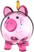 Piggy bank fragile transparent