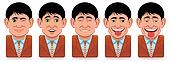Avatar people icons (facial expression:wink,surprise,pleasure,droll)