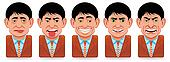 Avatar people icons (facial expressions:sick,disgust,vanity,anger)