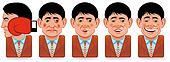 Avatar people icons (facial expressions:punch,wounded,drunk)