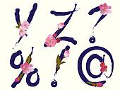 Spring alphabet letters Y,Z,signs