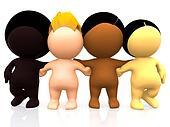 3D multi-ethnic people