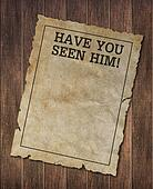 Have you seenhim poster on wood