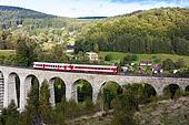 engine carriage on viaduct Novina, Krystofovo Valley, Czech Repu