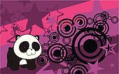 panda baby cartoon background2