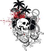 hawaiian skull ornament10
