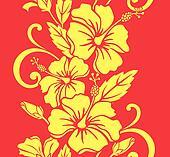 Seamless Hawaiian Hula Pattern