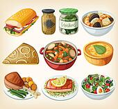 Collection of french meals
