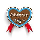 Bavarian Oktoberfest Heart Edelweiss