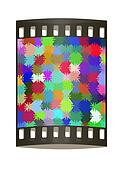 Many-colored puzzle pattern. The film strip