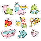 set of baby things