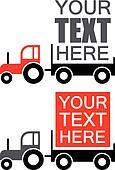 Tractor - vector advertisement back