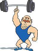Weightlifter using finger