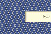 Vector Blue Plaid Pattern and Frame