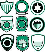 emblem badge shield set