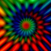 Blurry colorful swirl.