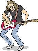 Heavy rock guitar player
