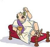 Roman senator frolicking