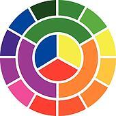 color wheel, vector