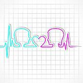 Heartbeat make male,female face