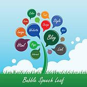 Bubble Speech Tree Leaf Flower