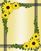 Yellow flower border