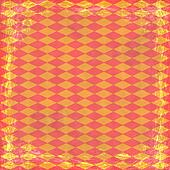 Orange grunge background. Old abstract vintage texture with frame and border.