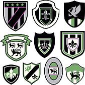 classic royal element emblem badge