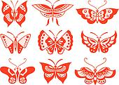 butterfly graphic artwork set