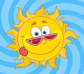 Sun Mascot Cartoon Character