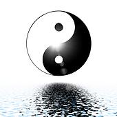 Symbol of yin and yang of the background.