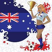Australian soccer poster with girl