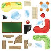 Vector Set of furniture