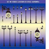 Street lanterns in style London