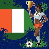 Cote d\'Ivoire soccer poster
