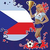 Czech soccer poster with girl