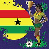 Ghana soccer poster with girl