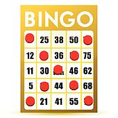 winner yellow bingo card