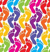 vector colorful feet background