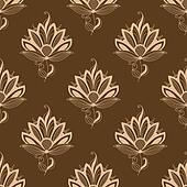Floral motif repeat seamless pattern