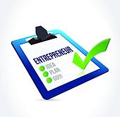 entrepreneur check list illustration design