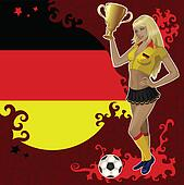 German soccer poster with girl