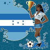 Honduran soccer poster with girl
