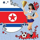 Northern Korea soccer poster