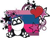 panda baby cartoon  sticker