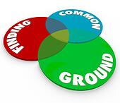 Finding Common Ground 3 Venn Diagram Circles Shared Interests