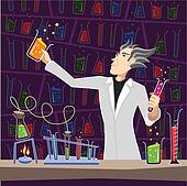 Scientist with Chemistry Equipment