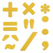 yellow font - symbols set