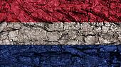 Netherlands Flag rough texture